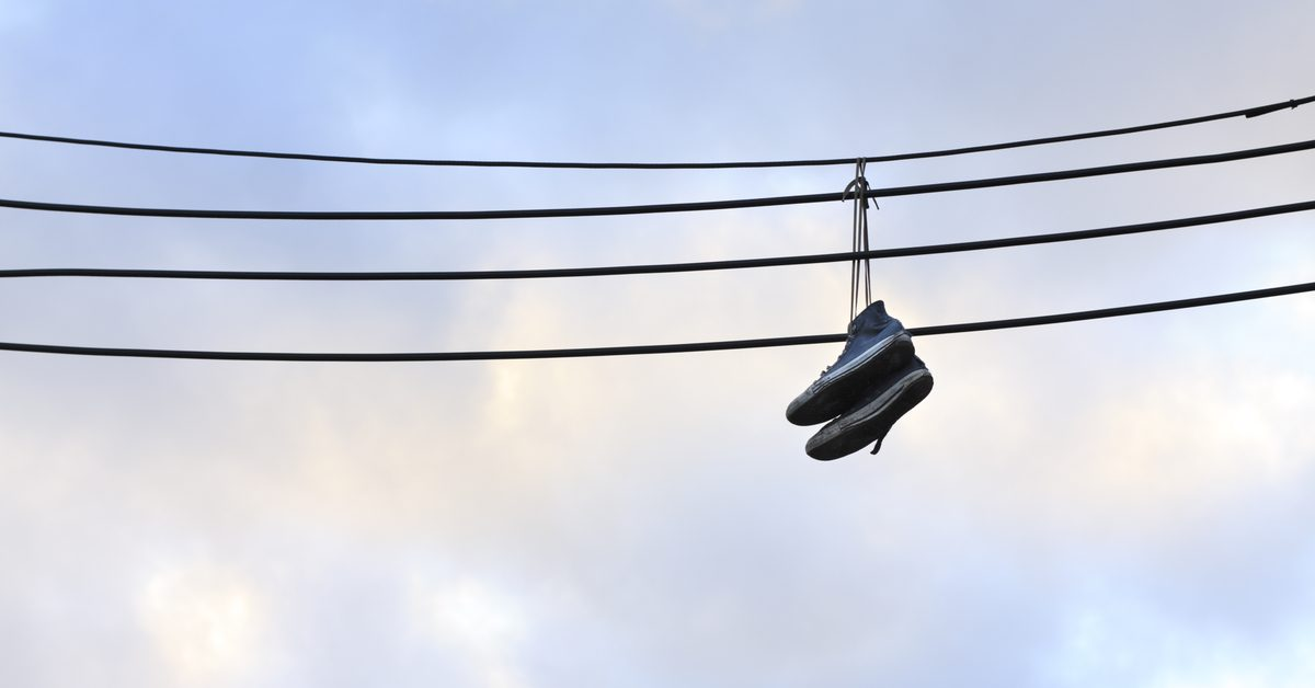 fact check do sneakers hanging from power lines carry a secret message?