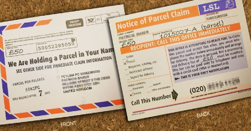 Parcel Delivery Service' Telephone Scam