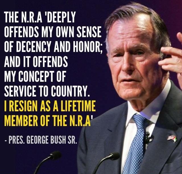 Fact Check Did George H W Bush Resign From The Nra