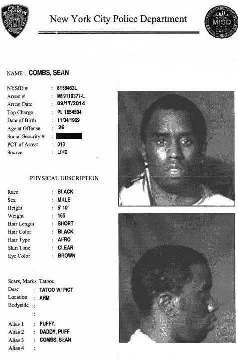 Sean Combs Arrested for the Murder of Tupac Shakur