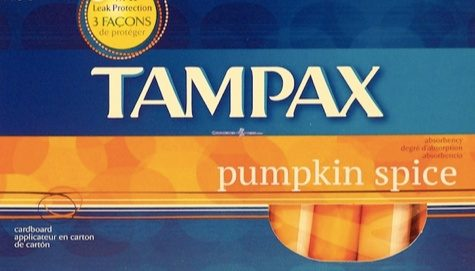 pumpkin spice tampons tampax
