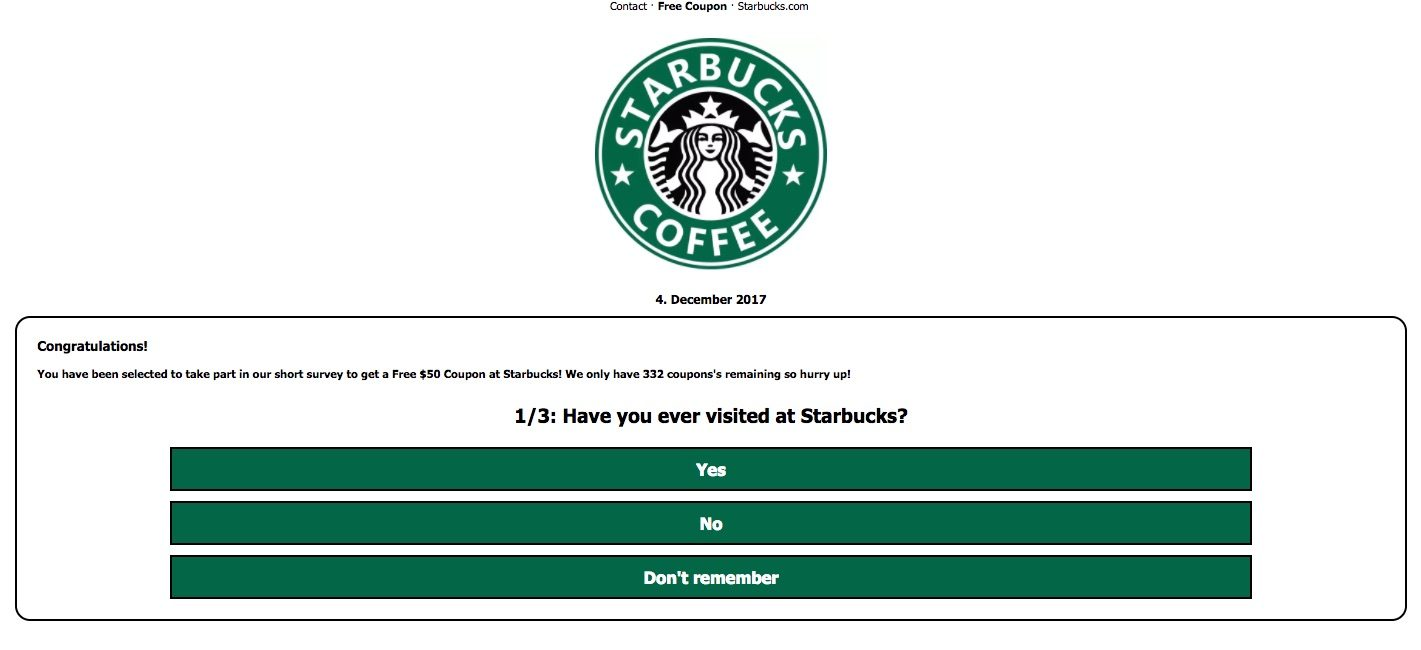 graphic regarding Starbucks Printable Gift Card called Truth of the matter Test: Totally free Starbucks Reward Card Rip-off