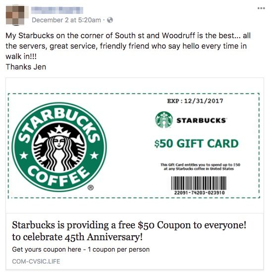 photograph relating to Starbucks Printable Gift Card called Real truth Examine: Cost-free Starbucks Present Card Rip-off