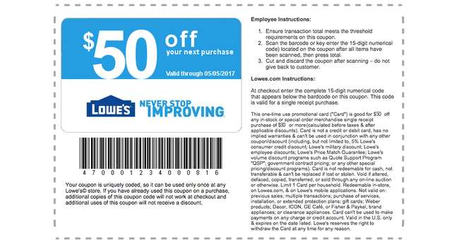 Lowes Barcode Type
