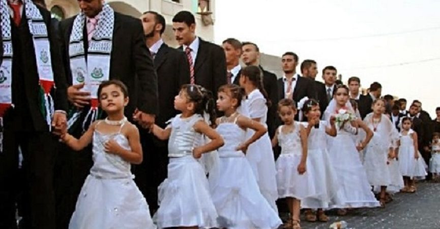 Do These Photographs Show a Hamas-Organized Wedding of Men and Young