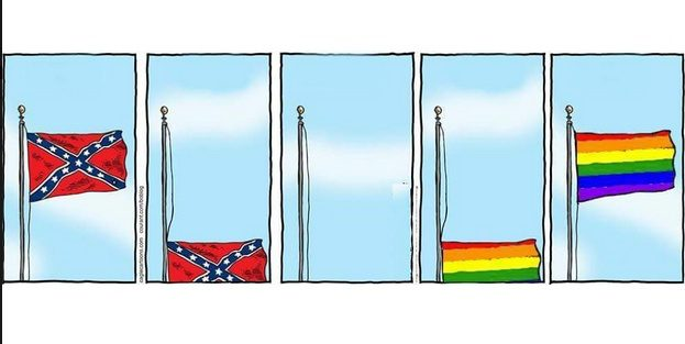 SPLC Confederate Gay Pride Flag Comic