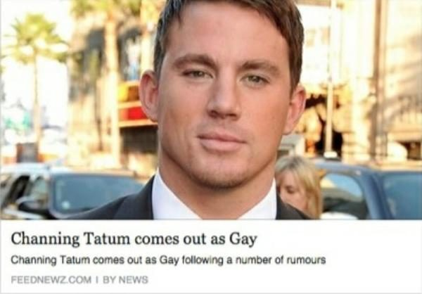 What is channing tatum sexual orientation