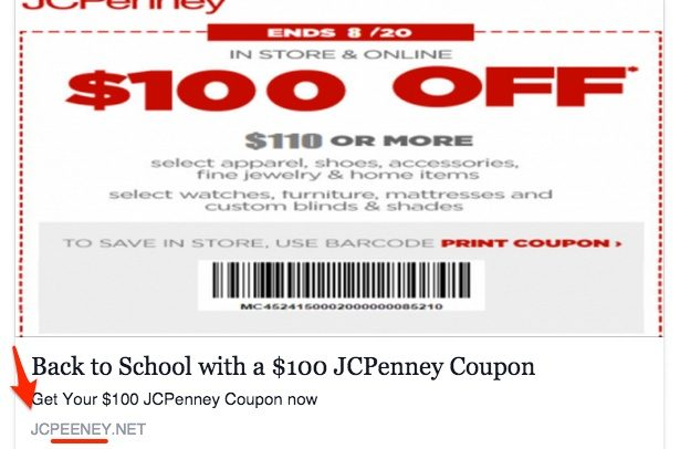 5527c4fdeb91 FACT CHECK   100 JCPenney Coupon Scam