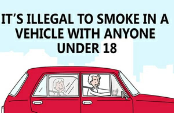 Smoking In A Car With A Child Law >> Smoking in Cars with Underage Passengers Now Illegal in ...