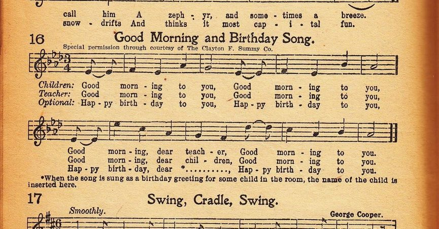 A Federal Judge Has Ruled That The Music Publishing Company Been Collecting Royalties For Song Happy Birthday To You Decades Does Not