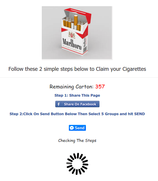 SCAM: Marlboro is Giving FREE Carton of Cigarettes