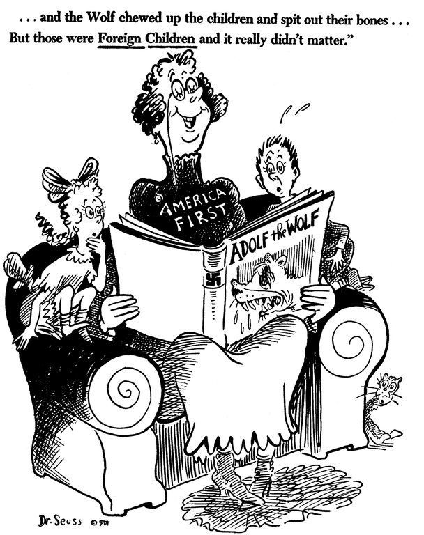 seuss catalog of political cartoons is a well documented if infrequently referenced aspect of his long career the 1999 book dr seuss goes to war the