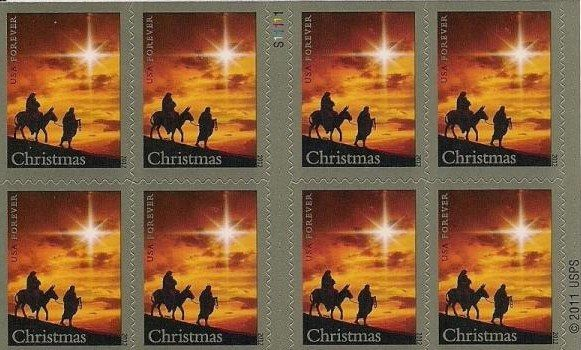 Christmas Stamps 2019.False Usps To Stop Selling Religion Themed Christmas Stamps