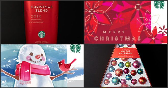starbucks collage