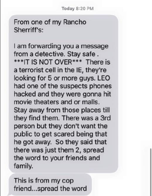 san bernardino its not over text