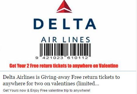 Airline Ticket Giveaway Scam