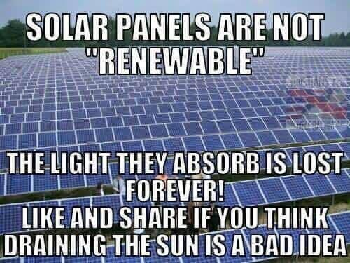 Fact Check Solar Panels Don T Drain The Sun Of Energy