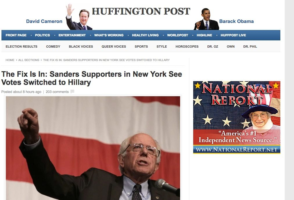 The_Fix_Is_In__Sanders_Supporters_in_New_York_See_Votes_Switched_to_Hillary_-_Huffington_Post___Huffington_Post