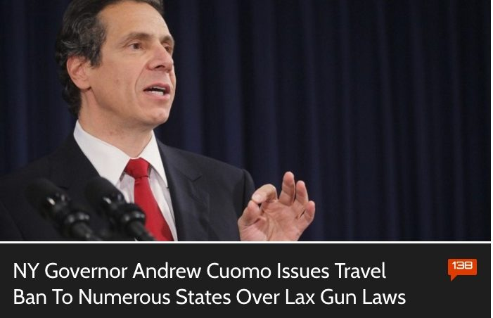FALSE: New York State Gun Law Travel Ban