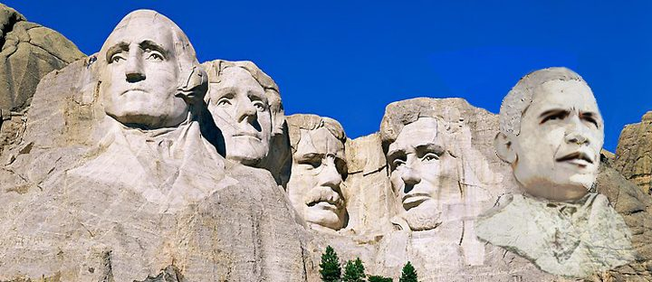 Plan Launches to Make Obama Addition to Mount Rushmore