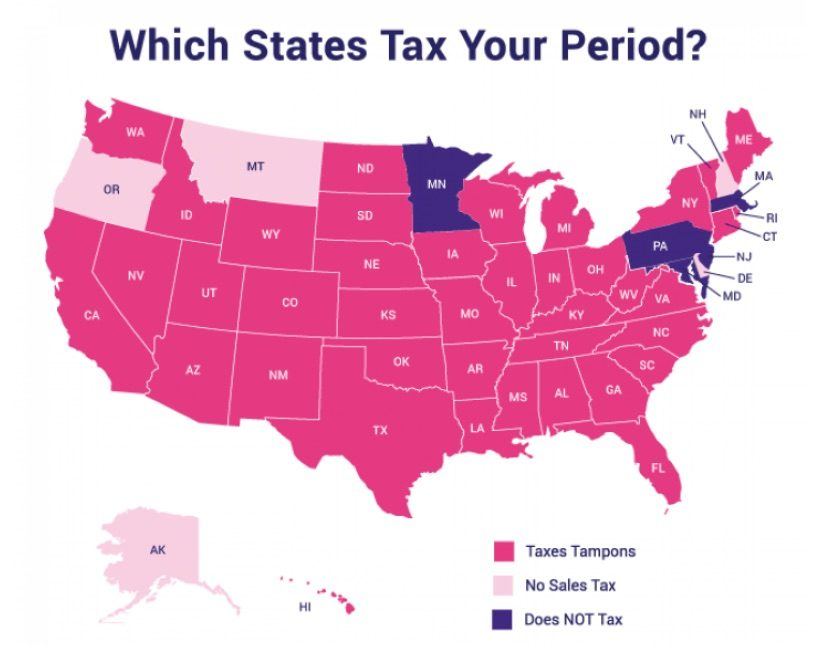 tampon tax state