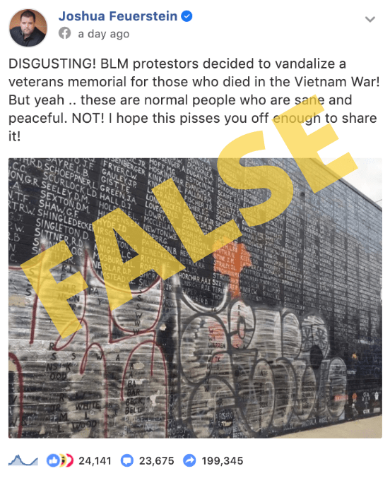 Was The Vietnam Memorial Vandalized With Graffiti