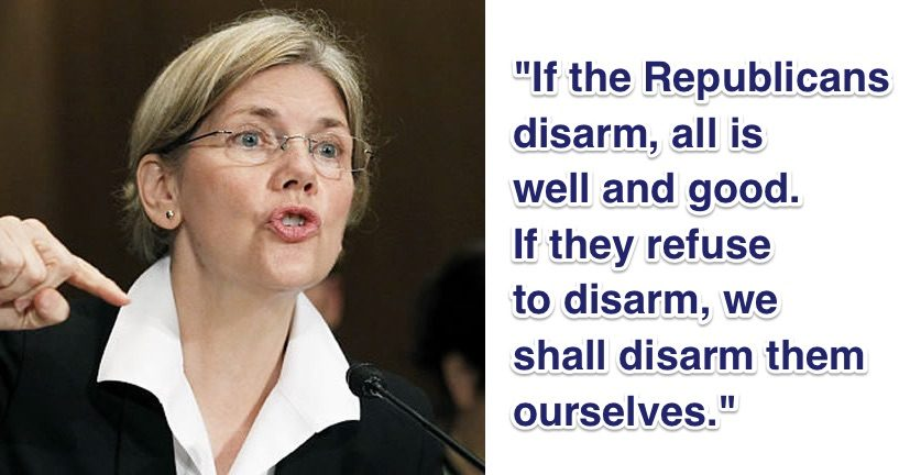 Fact Check Elizabeth Warren Disarm Them Ourselves Quote