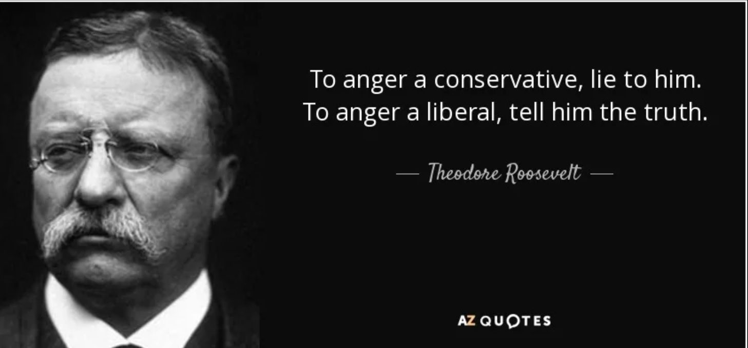 FACT CHECK: Teddy Roosevelt on Conservatives vs. Liberals