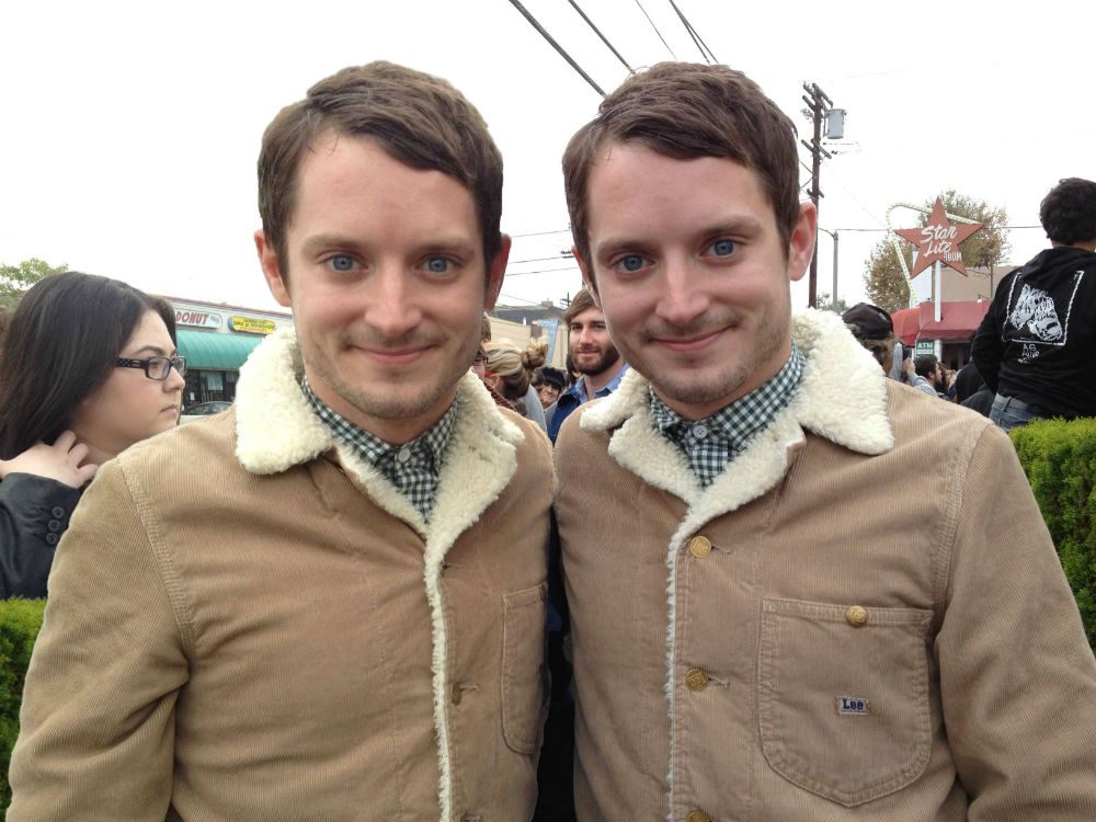 Photograph of Elijah Wood with Identical Twin Brother