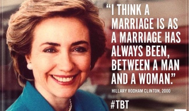 Hillary clintons stand on same sex marriages