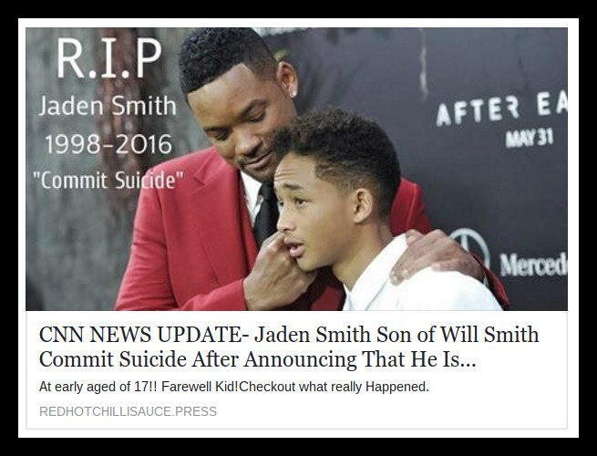 is jaden smith dead