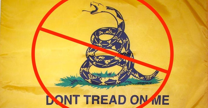 4af36156091 Legal analyst Eugene Volokh s article about an EEOC decision pertaining to  the Gadsden flag (