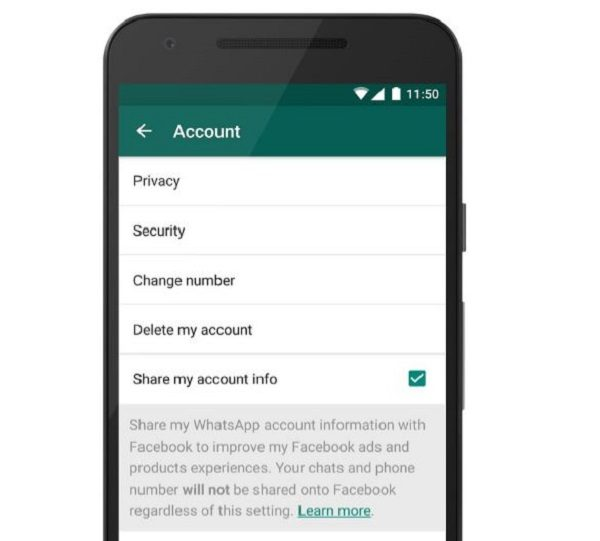 WhatsApp Will Share Personal User Information with Facebook