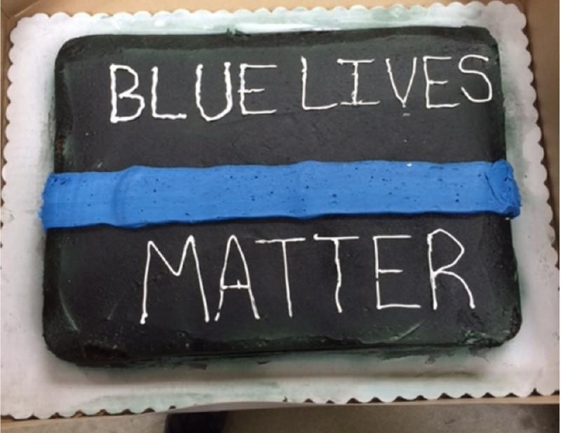 Incredible Walmart Refuses To Produce A Thin Blue Line Retirement Cake Funny Birthday Cards Online Necthendildamsfinfo