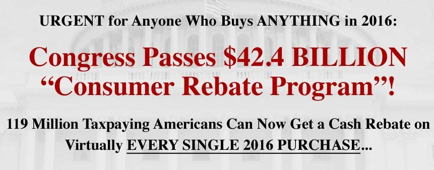 Americans To A Cash Rebate On Every Single Purchase Program That You Too Could In If Paid 49 For Subscription Find Out How