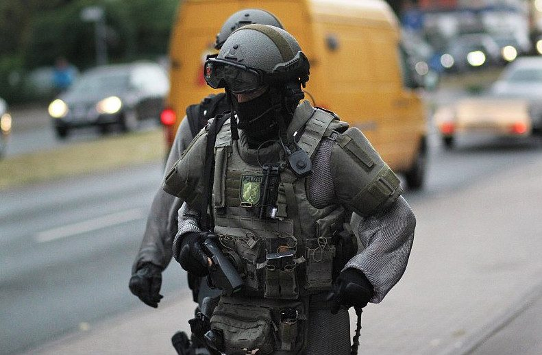 Are German Police Wearing Chainmail To Defend Against
