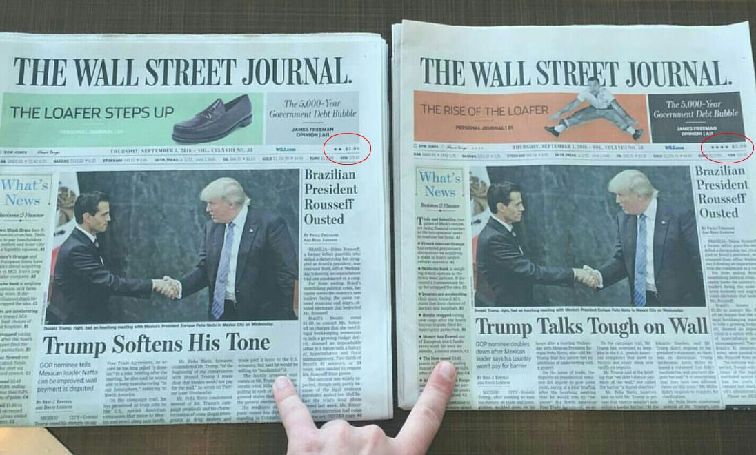 wsj papers marked