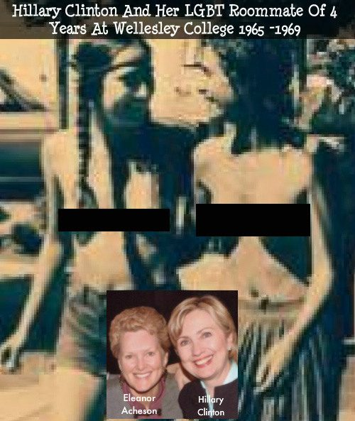 clinton topless