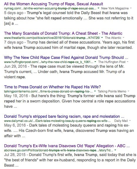 Donald Trump Accused of Rape and Human Trafficking
