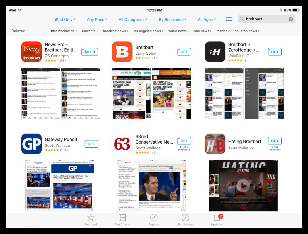 Breitbart News App Removed From the Apple Store?