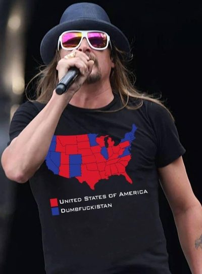 71235b0e9 The map and caption were photoshopped onto this 2013 photo of Rock  performing — in a plain black t-shirt ...