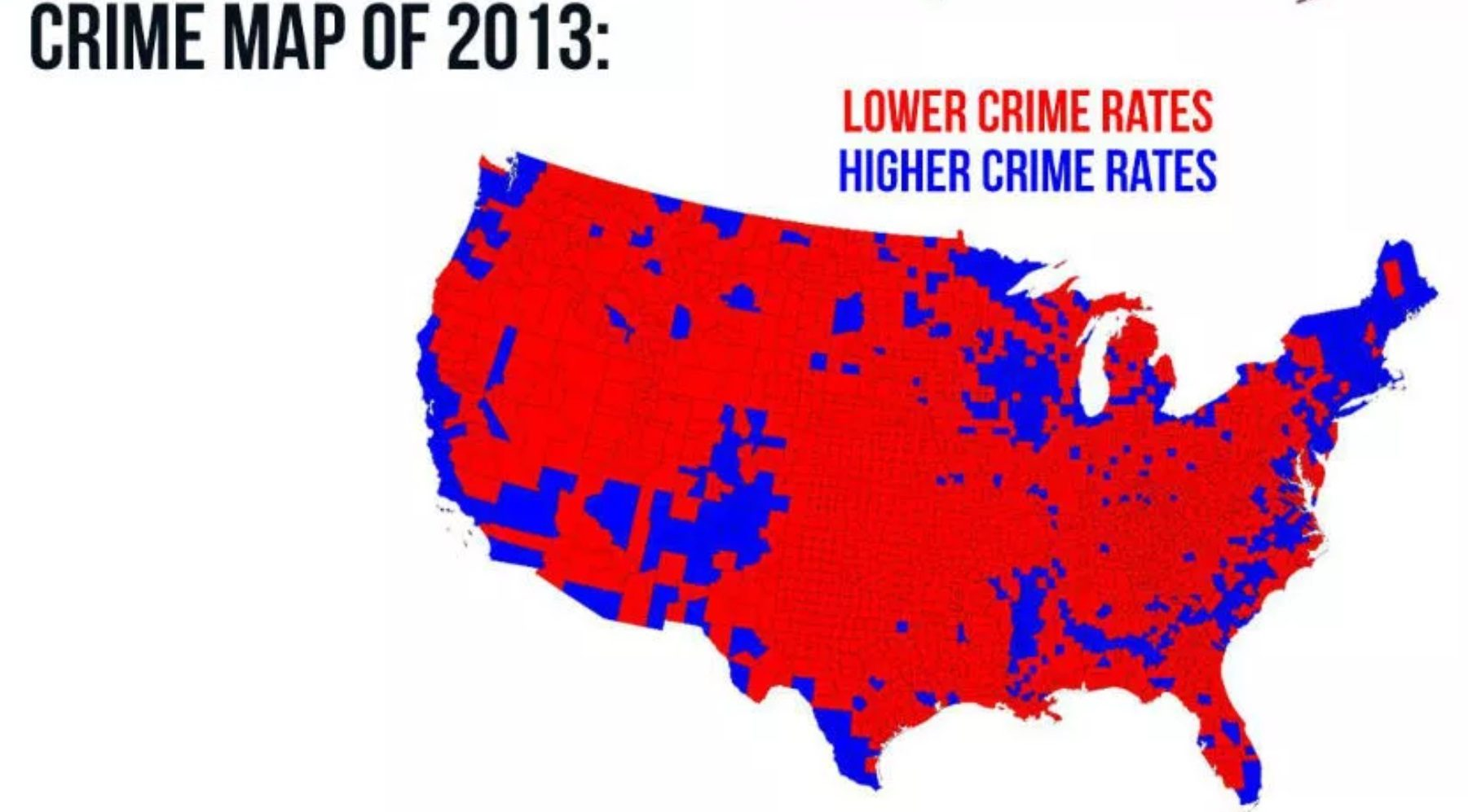 Fact Check Do Maps Show High Crime Rates Where Democrats Vote - Map-of-violent-crime-in-us
