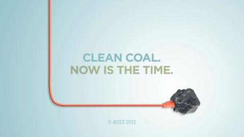 An ad sponsored by the American Coalition for Clean Coal Electricity.