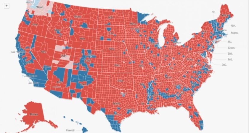 FACT CHECK: Did Trump Win 3,084 of 3,141 Counties, Clinton Only 57?