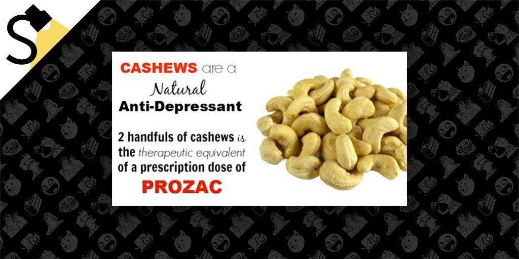 Are Two Handfuls of Cashews Equivalent to a Dose of Prozac for