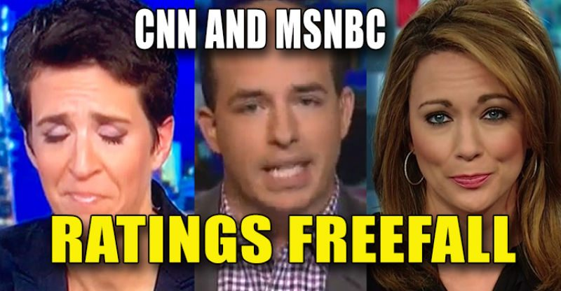 CNN and MSNBC in Ratings Freefall, Fox Soundly Beating Both