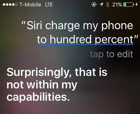 siri charge my phone police