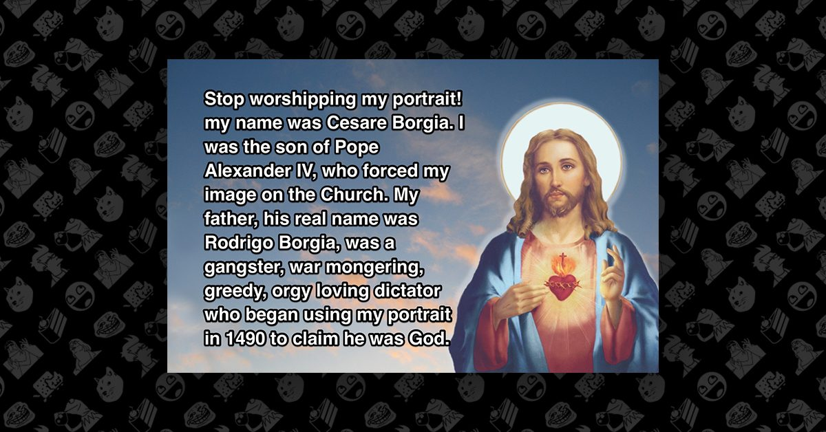 Sexual imagery of the saints and jesus