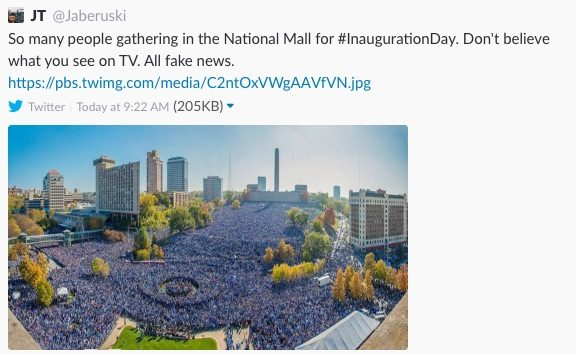 fake inaugural crowds