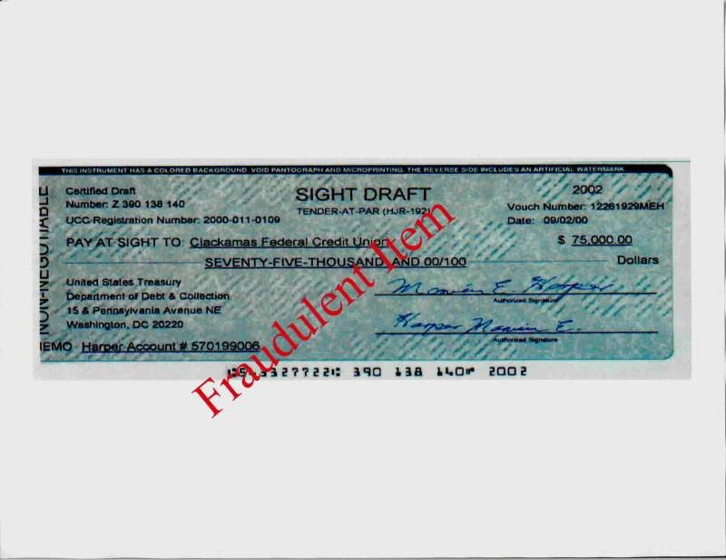 birth certificate stock commercial redemption